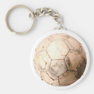 Old Ball Basic Round Button Key Ring
