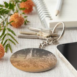 Old Bar Basic Round Button Key Ring