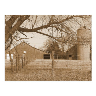 Old barn 2 postcard