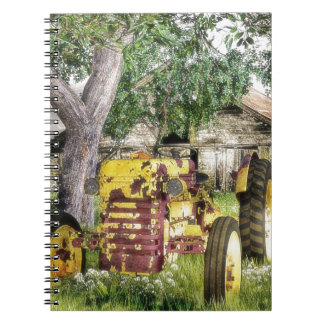 Old Barn And Tractor Spiral Notebook