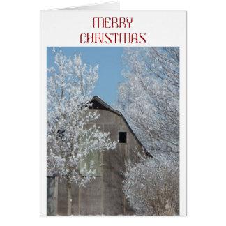 Old Barn Christmas Card