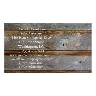 Old Barn Door Wood Business Card