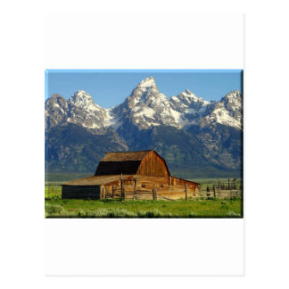 Old Barn Grand Tetons Postcard