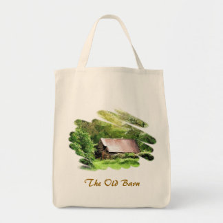 OLD BARN GROCERY TOTE BAG