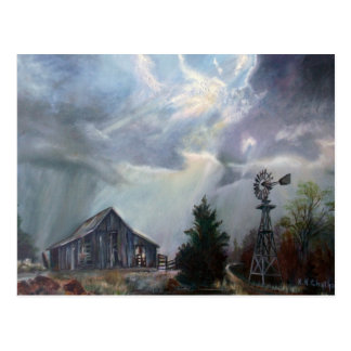 Old Barn In A Texas Thunderstorm Greeting Card