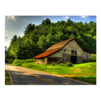 Old Barn in North Carolina Mountains Postcard