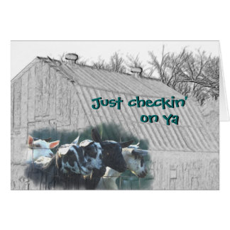 Old Barn & Kid Goats - customize any ocassion Card
