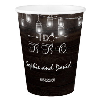 Old Barn Mason Jars String Lights I DO BBQ Paper Cup