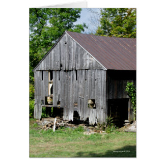 Old Barn New Hampshire Card