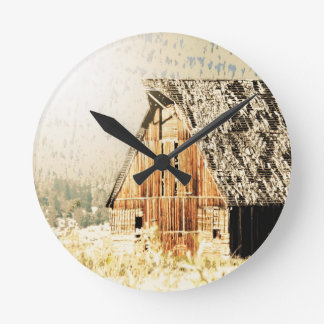 Old Barn Round Clock