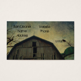 Old Barn Silo And Bird Business Card
