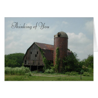 Old Barn Thinking of You Greeting Card by Janz