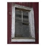 Old Barn Window Poster