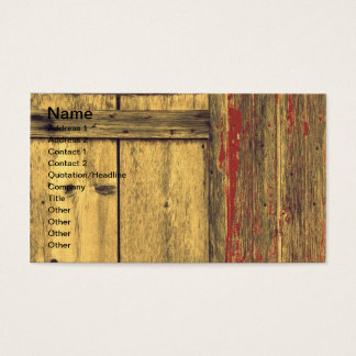 Old Barn Wood Business Card