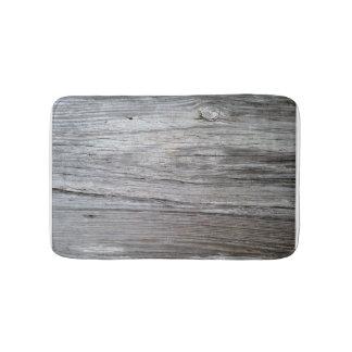 Old barnwood board bath mat