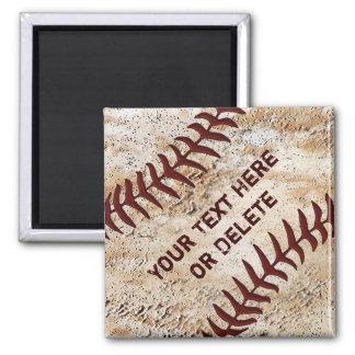 Old Baseball Magnets, Up Close Baseball Stitching Magnet