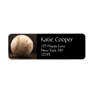 Old Baseball Return Address Label