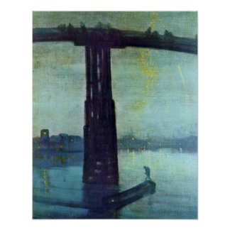 Old Battersea Bridge by James McNeill Whistler Poster