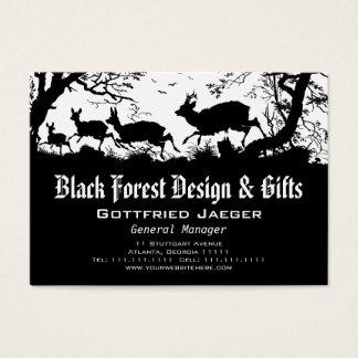Old Bavaria German style deer Business Card