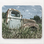 Old Beater Truck - Rusty Vintage Farm Vehicle Mousepad