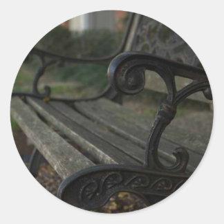 Old Bench Round Sticker