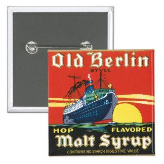 Old Berlin Malt Syrup Button