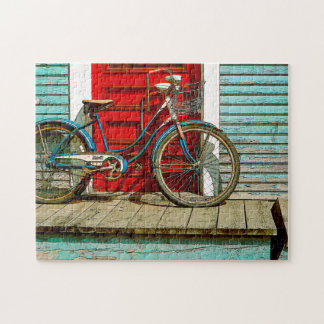 Old Bike Photo Puzzle with Gift Box