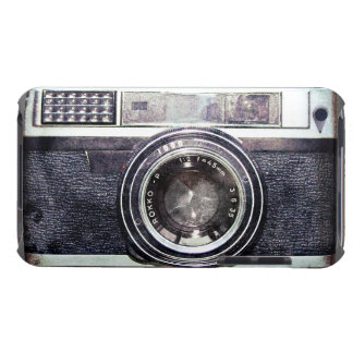Old black camera iPod touch case