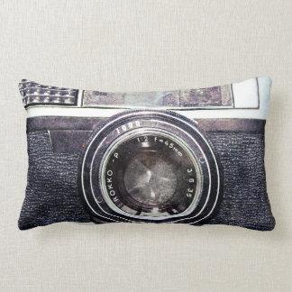 Old black camera lumbar cushion