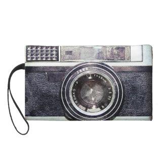 Old black camera wristlet