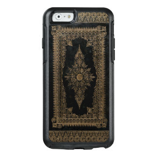 Old Black Leather And Rose Gold OtterBox iPhone 6/6s Case