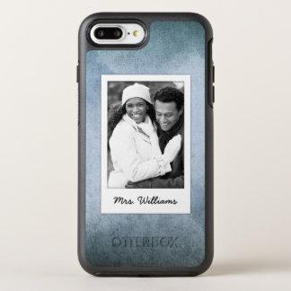 Old Blue & Black Watercolor Paper | Add Photo OtterBox Symmetry iPhone 8 Plus/7 Plus Case
