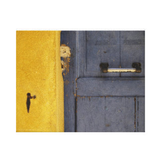 Old Blue Door Wrapped Canvas