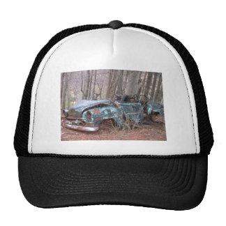 Old Blue Junker car Trucker Hats