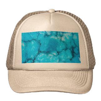 Old blue marble look cap