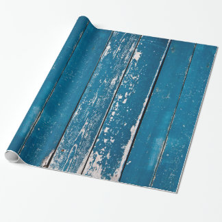 Old blue wood wrapping paper