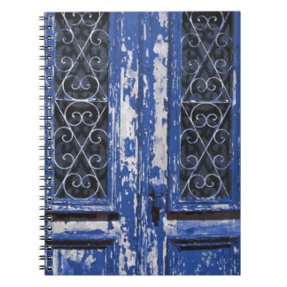 Old blue wooden door photo notebooks