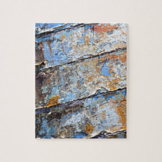 Old boat blue cracked texture jigsaw puzzle