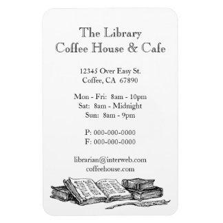 Old Books Restaurant Advertisement Custom Magnet Rectangular Photo Magnet