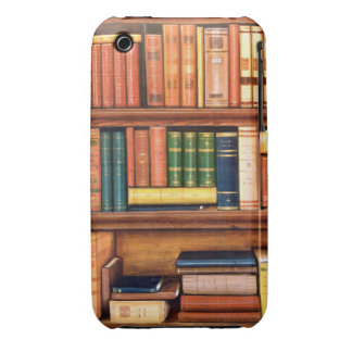 Old Books Vintage Library Bookshelf iPhone3GS Case