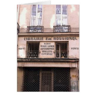 Old Bookstore in Paris Card