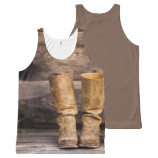 Old boots All-Over print singlet