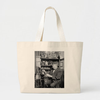 Old Bottle Collector, 1930s Jumbo Tote Bag