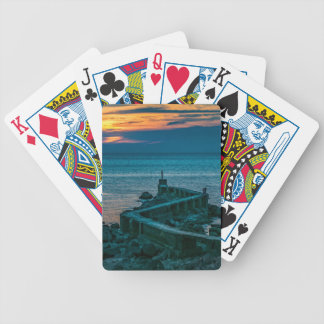 Old Breakwater, Montevideo, Uruguay Bicycle Playing Cards