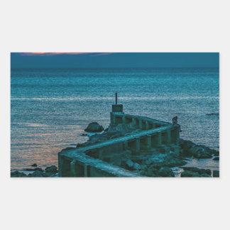 Old Breakwater, Montevideo, Uruguay Rectangular Sticker