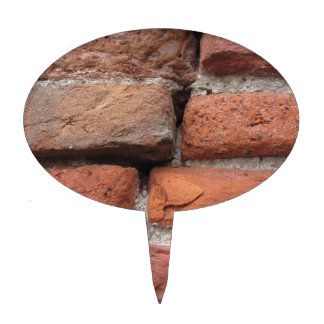Old brick wall background cake toppers