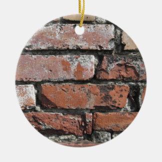 Old brick wall background ceramic ornament