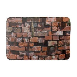 Old Bricks Abstract Bath Mat