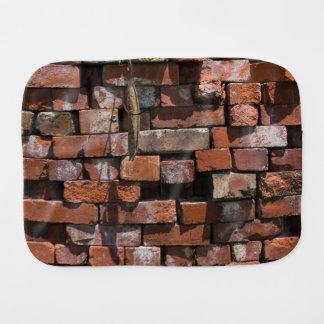 Old Bricks Abstract Burp Cloth