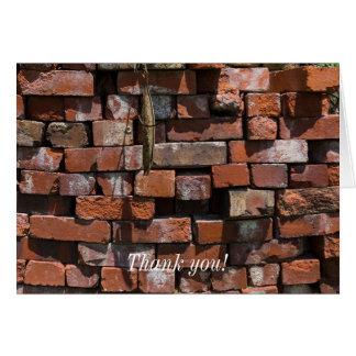 Old Bricks Abstract Card